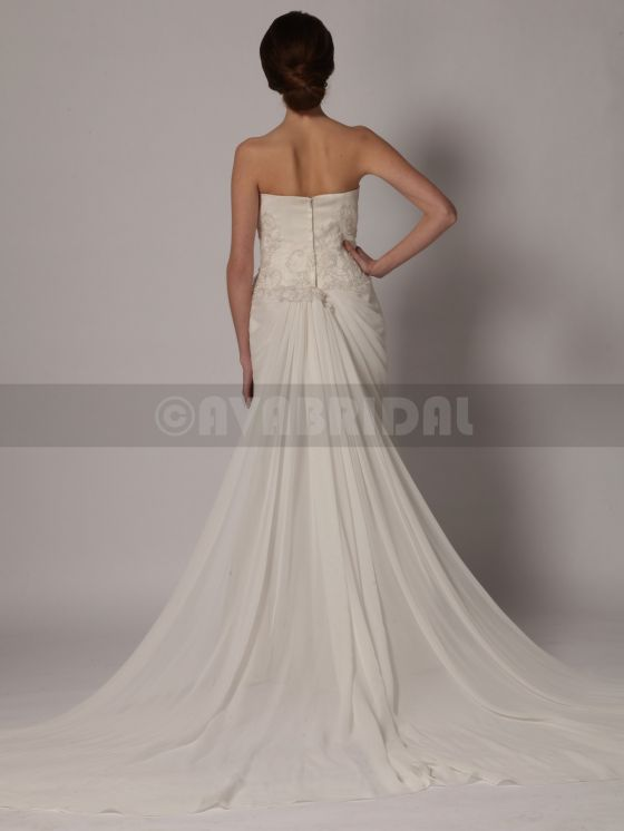 Beach Style Wedding Dress - Yvonne -Back