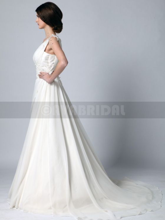 Grecian Goddess Wedding Dress - Zoe -left