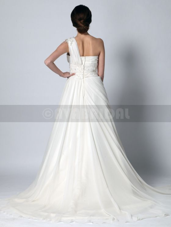 Grecian Goddess Wedding Dress - Zoe -back
