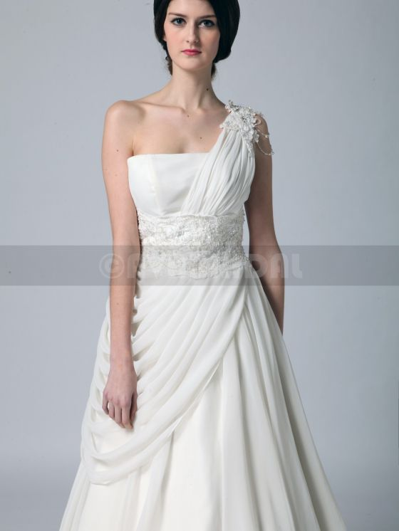 Grecian Goddess Wedding Dress - Zoe -neckline