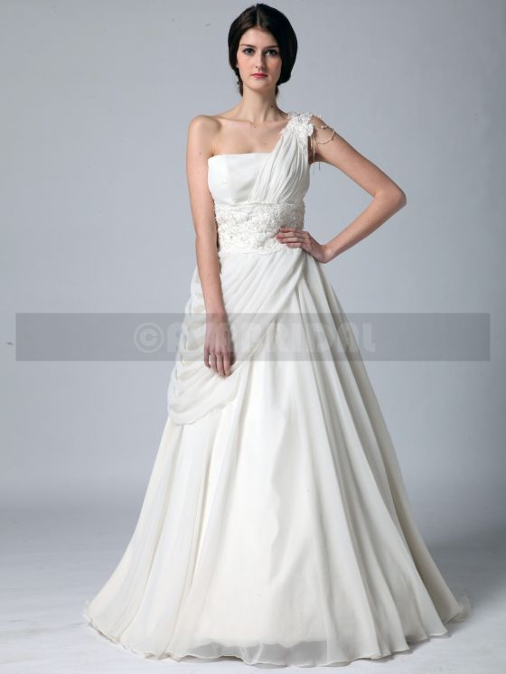 Grecian Goddess Wedding Dress - Zoe -front2