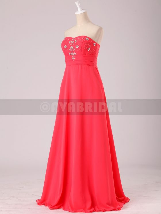Stunning Beaded Sweetheart Chiffon Bridesmaid Dress B472-left