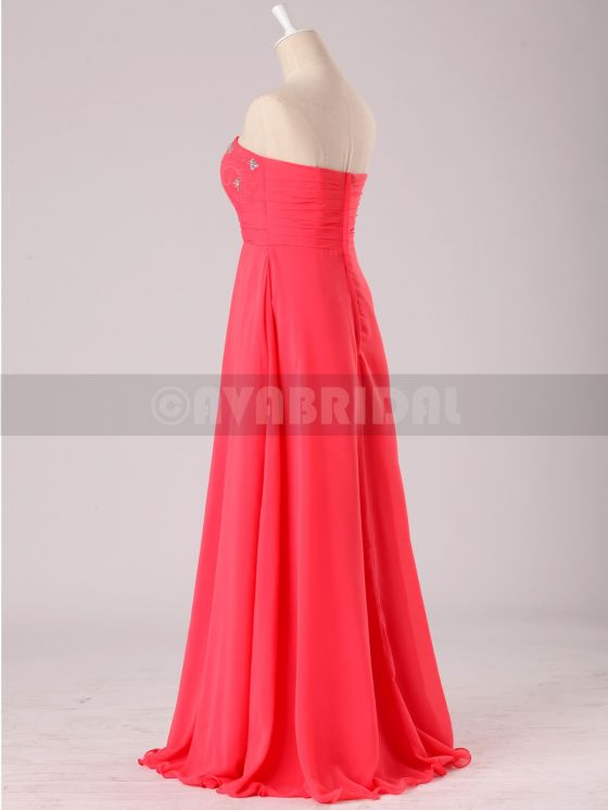 Stunning Beaded Sweetheart Chiffon Bridesmaid Dress B472-Back 1