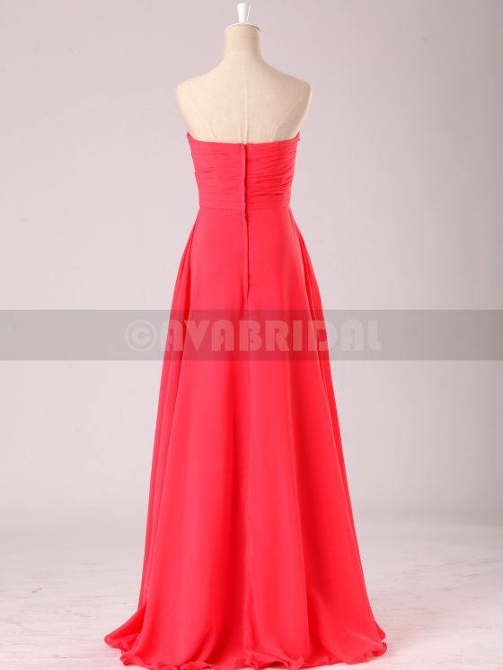 Stunning Beaded Sweetheart Chiffon Bridesmaid Dress B472-Back 2