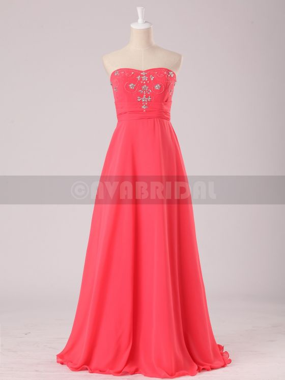Stunning Beaded Sweetheart Chiffon Bridesmaid Dress B472-front