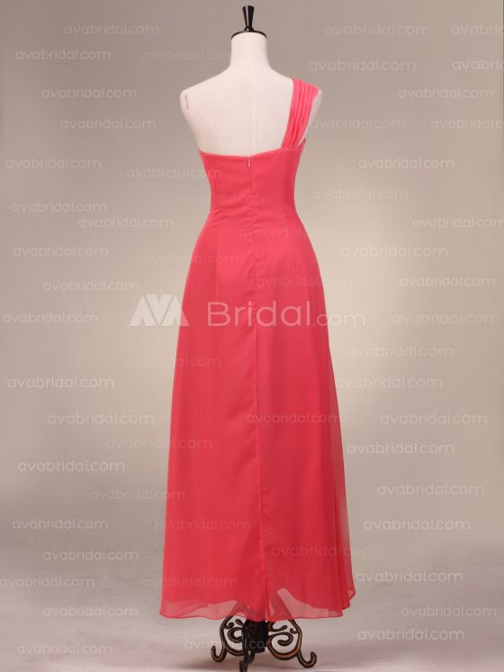 Grecian Goddess Chiffon Bridesmaid Dress B483-back