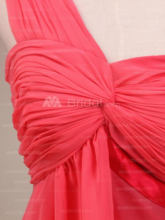 Grecian Goddess Chiffon Bridesmaid Dress B483-embellishment