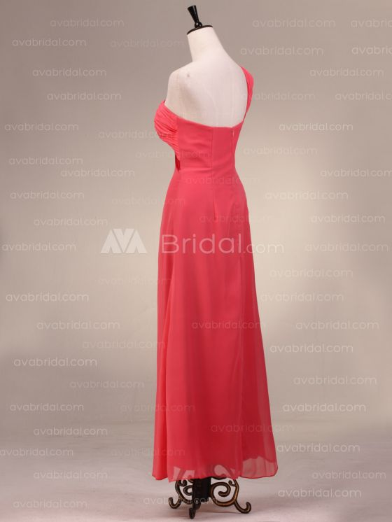 Grecian Goddess Chiffon Bridesmaid Dress B483-left