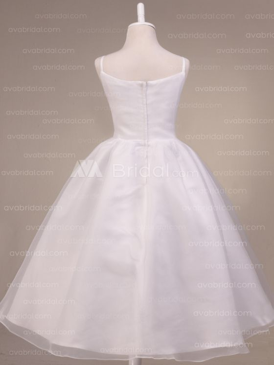 flower girl dress-back