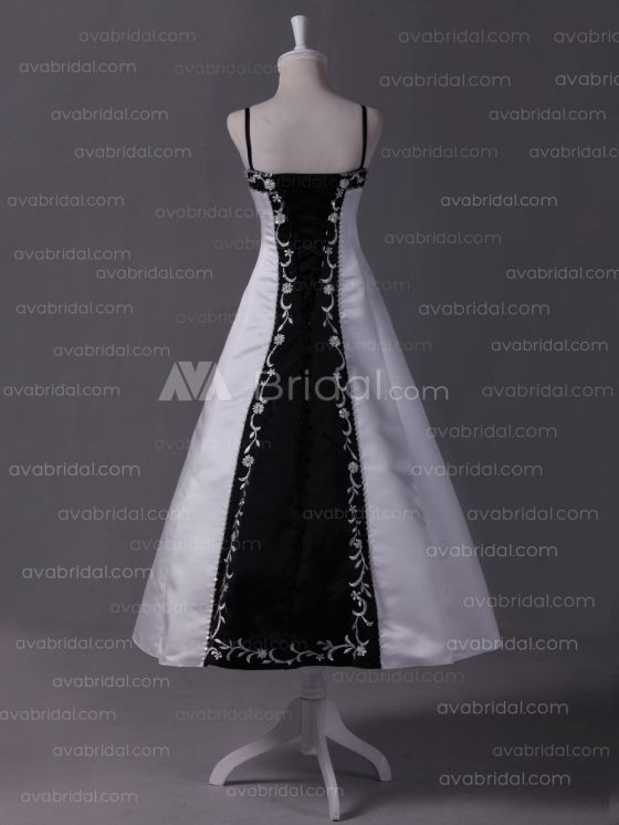 Embroidered Satin Flower Girl Dress F234  -Back