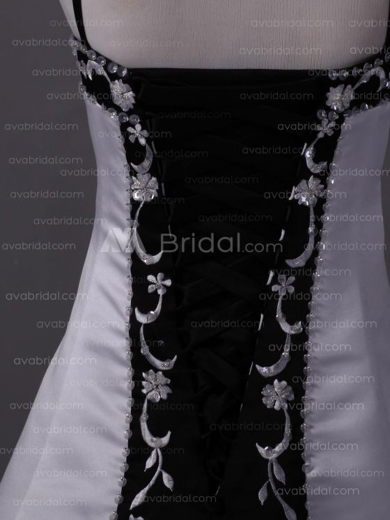 Embroidered Satin Flower Girl Dress F234  - Back Detail