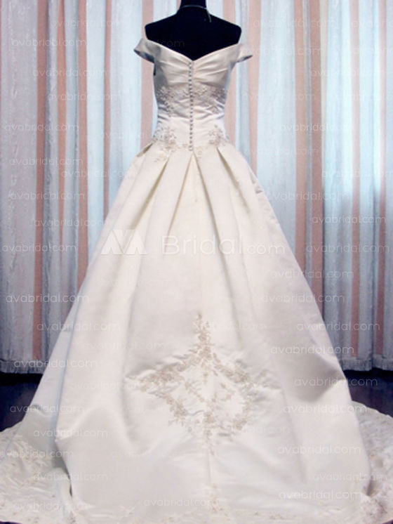 Modest Bridal Gown - Cherith - Back