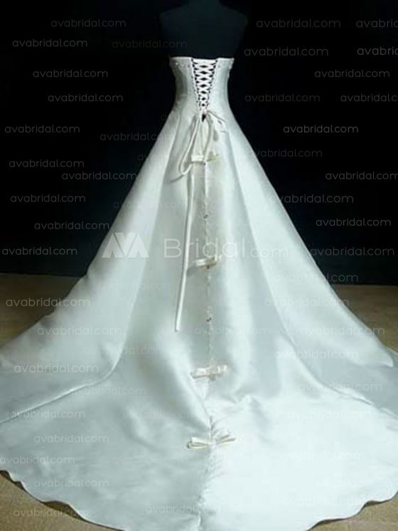 Modest Wedding Gown - Charly - Back