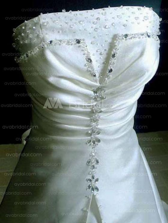 Modest Wedding Gown - Charly - Front Bodice