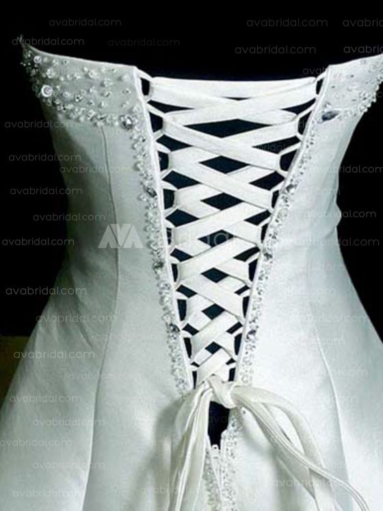Modest Wedding Gown - Charly - Back Closure