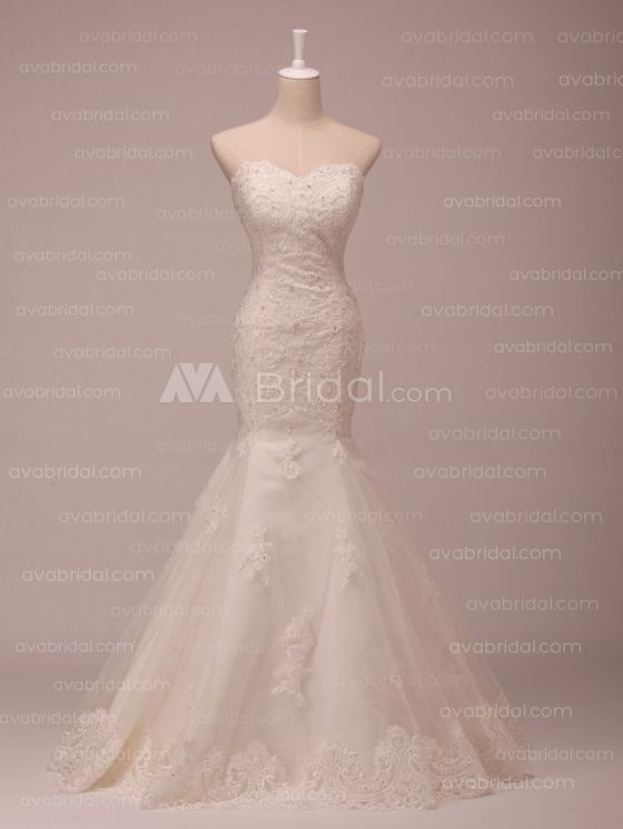 Lace Wedding Dress - Grace - Front