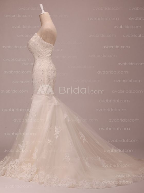 Lace Wedding Dress - Grace - Side