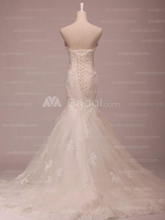 Lace Wedding Dress - Grace - Back