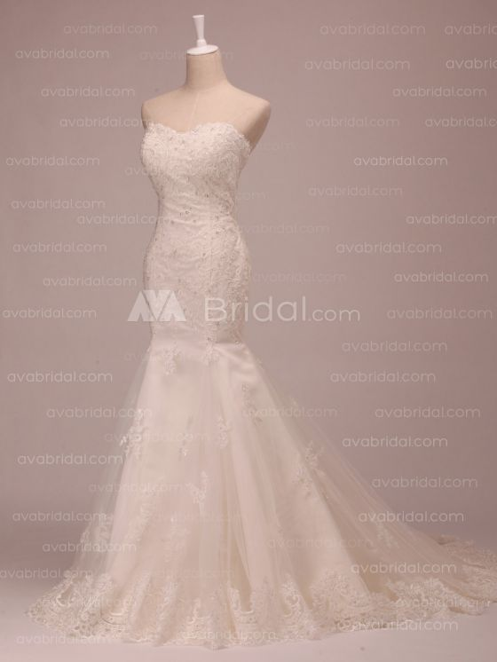 Lace Wedding Dress - Grace - Right Side