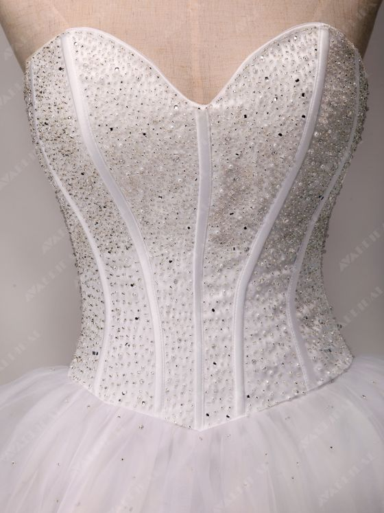 A-line Princess Wedding Dress - Abbie - Bodice