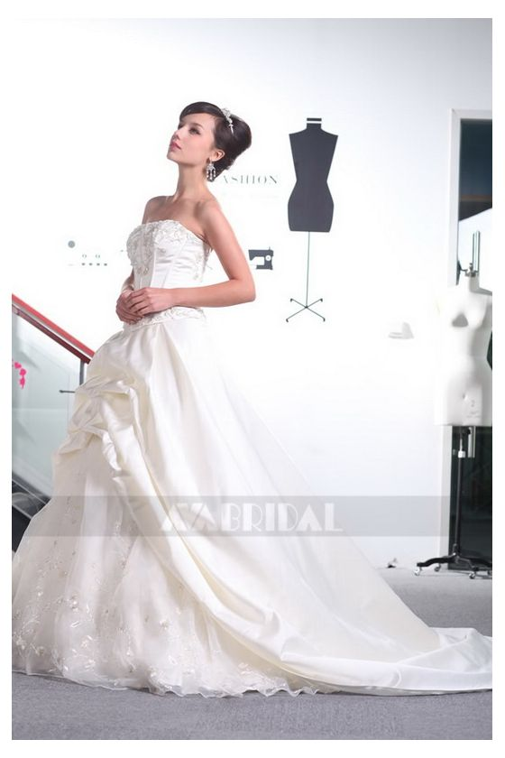 Modern Wedding Gown - Michelle - Left Side