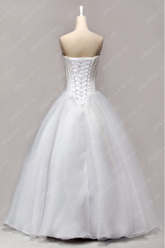 A-line Princess Wedding Dress - Abbie - Back
